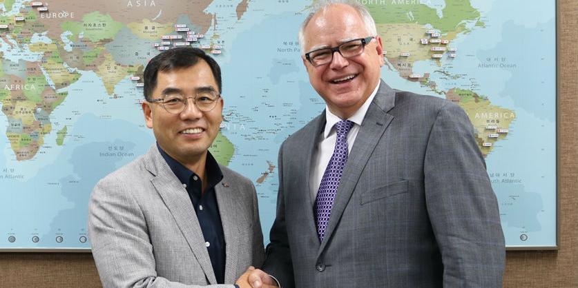 강신호, 한국방문 미국 미네소타 주지사와 CJ제일제당 사업협력 논의