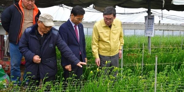이대훈, 화훼농가 방문해 NH농협은행의 코로나19 지원방안 논의
